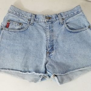 "High Waisted 11"" rise Cut off Jean Shorts"